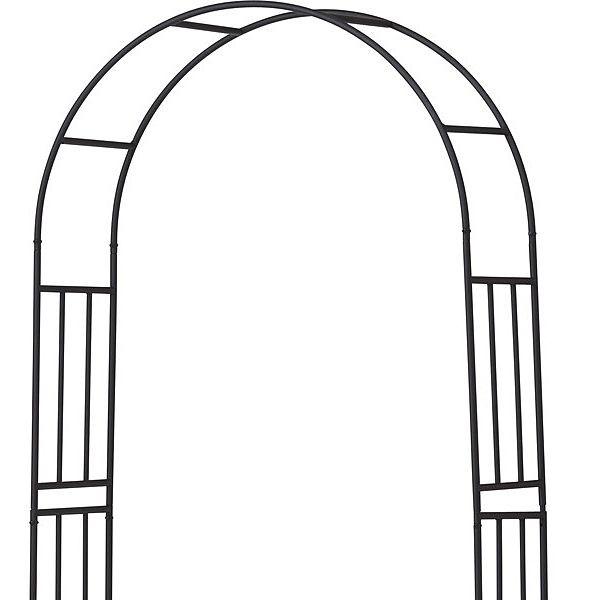 ガーデンアーチ スチール製 パーゴラ アーチ ベランダ バラ 薔薇 ガーデニング 園芸用品 ガーデンファニチャー ローズガーデン プランター置き台付 薔薇の誘引 おしゃれ 連結部分
