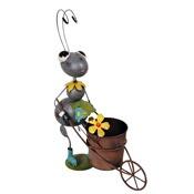 プランタースタンド フラワースタンド オブジェアイアンプランター アニマルポット 働きあり 植木鉢 ガーデニング
