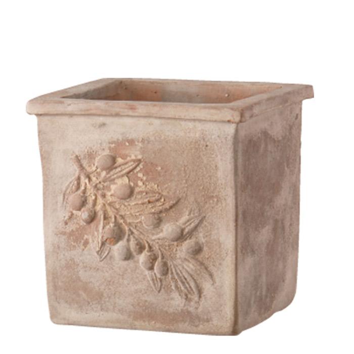 プランター 植木鉢 プランター 植木鉢 テラコッタ鉢 オリーブポット スクエアー アンティコ