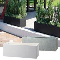 プランター 植木鉢 大型 長方形植木鉢 ファイバープランター ラムダ スリム