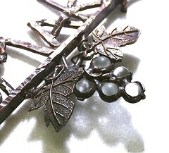 アイアン表札シャインガラス 仕上げ 燻し銅