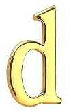 真鍮文字 ブラスレター 小文字