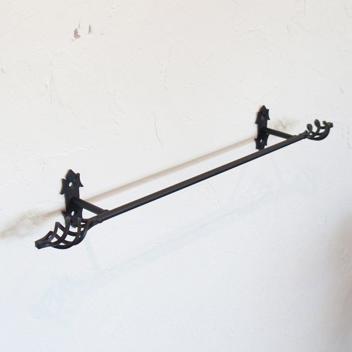 タオルハンガー タオル掛け ヨークタオルバーB 200 ブラック アイアン ナチュラル モダン おしゃれ 壁 洗面 トイレ キッチン