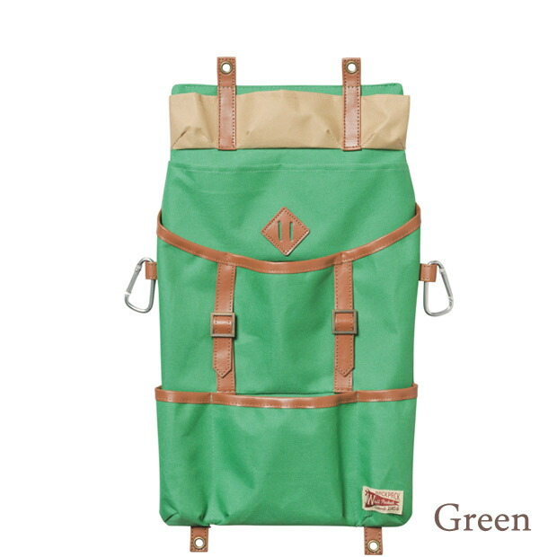 壁掛け収納 ウォールポケット 小物収納 壁収納ポケット バックパック グリーン オシャレ 車のシートポケット