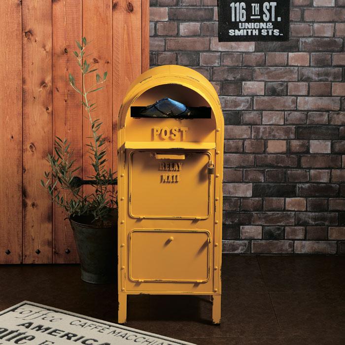 ポスト 郵便受け スタンドタイプ 郵便ポスト アメリカンポスト 南京錠付き