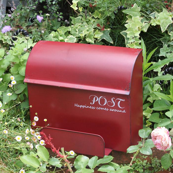 壁掛けポスト郵便受け新聞受けアイアンメタルポスト メールボックスアンティーク仕上げアンティーク風ポスト