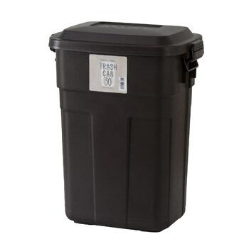 ごみ箱 ゴミ箱 ふた付き おしゃれ ダストボックス トラッシュカン 30リットル 30L ブラウン 茶 ダウンロック式フタ 屋内 室内 キッチン シンプル モダン