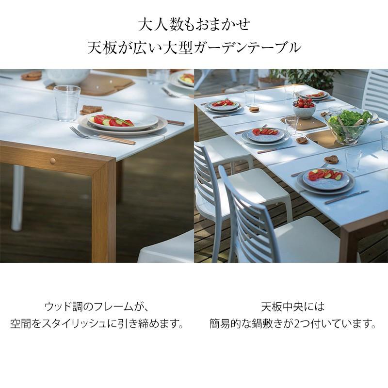 ガーデンテーブル 屋外用 テーブル サンデーダイニングテーブル 190×100 GRS-T15 ガーデンテーブル 庭 テラス グロスフィレックス プラスチック