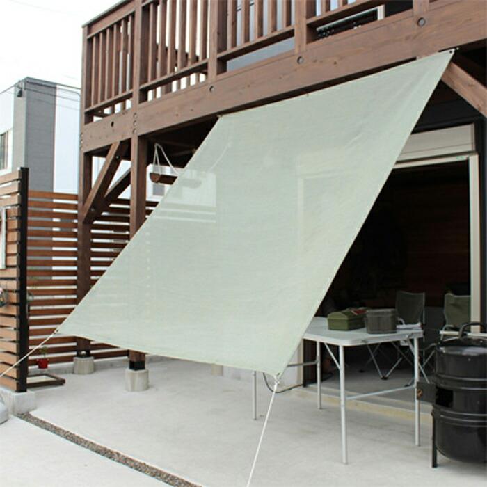 日よけ 日除け シェード オーニング スクリーン すだれ 窓 おしゃれ 高級 上質 ichiori shade プレーン グラスグリーン 約195×200cm 取付金具・ロープ付き 折り畳み 折りたたみ 暑さ対策 紫外線対策