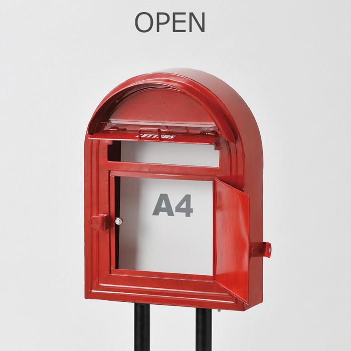 ポスト 壁付け 壁掛け 壁掛 郵便ポスト POST MAIL BOX メールボックス 新聞入れ おしゃれ スチールポスト 共通スタンド対応商品