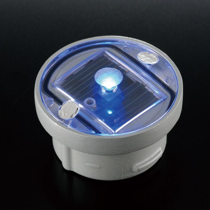 屋外照明 ソーラーライト LED 照明 埋込 駐車場 ライト 外灯 角型 ソーラータイル ソーラーマーカーR60 ブルー