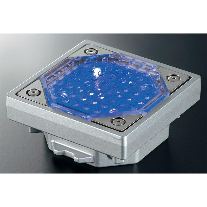 屋外照明 ソーラーライト LED 照明 埋込 駐車場 ライト 外灯 角型 ソーラータイル ソーラータイル TI-S100N ブルー