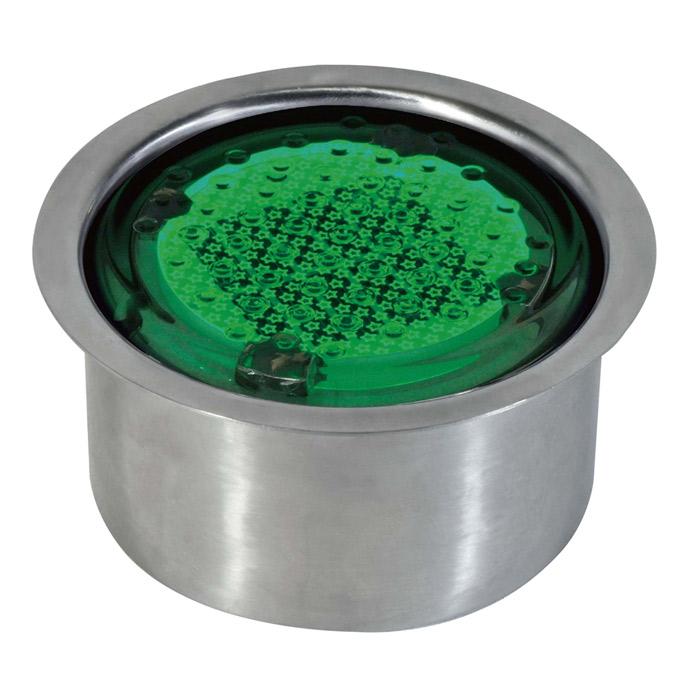 屋外照明 ソーラーライト LED 照明 埋込 駐車場 ライト 外灯 発光ダイオード 直径100タイプ 点灯 緑