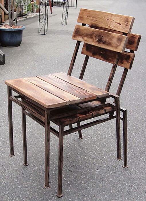 チェア スクラップチェア 2脚 スタッキング 完成品 硬木 モダン 椅子 室内向け 家具 インテリア