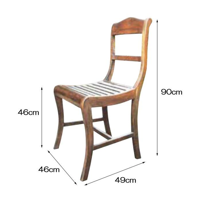 チェア ヨーロピアンチェア 1脚 完成品 ブラウン チーク モダン 椅子 室内向け 家具 インテリア