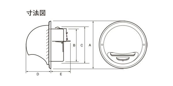 ステンレス製 丸型フード付ガラリGN150SHD-HL 12台/1ケース単位 ヘアーライン 150φ用 ビス穴パンチ ダンパー付 新築 リフォーム DIY 住宅 換気 外壁換気口 自然吸排気口用品