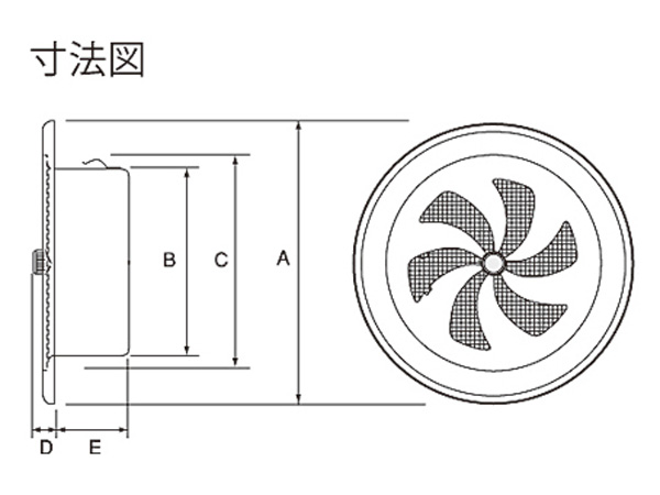 ステンレス製 丸型レジスター RN150S-HL 1台単位 ヘアーライン 150φ用 新築 リフォーム DIY 住宅 換気 外壁換気口 自然吸排気口用品