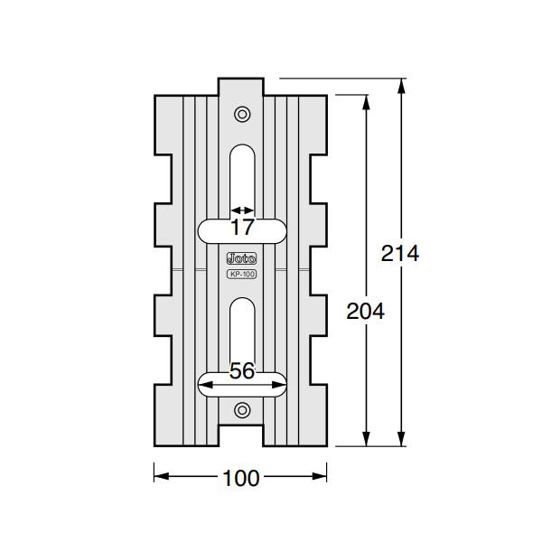 キソパッキン 基礎パッキン 在来工法・2×4工法兼用 床下全周換気 シロアリ対策 KP-100 30個入り単位 105角・204・404用 新築 リフォーム工事に
