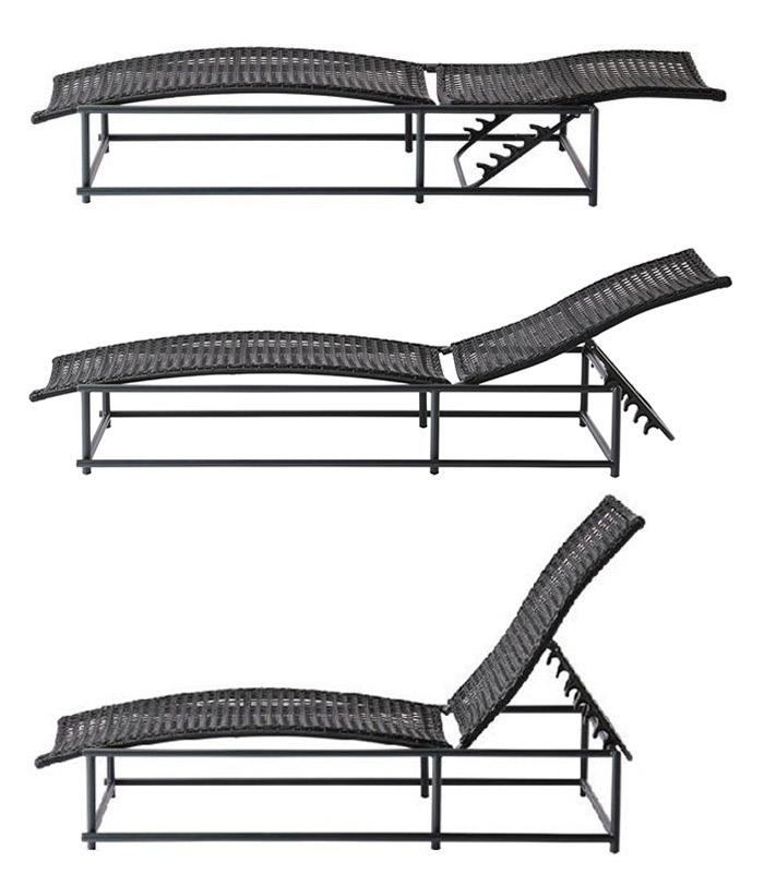 ガーデンチェア 人工ラタン ラタン リクライニング チェア PATIO PETITE(パティオプティ) MAシリーズ マシリーズ MA-ベッド 背面リクライニング6段階 組立品 リラックスチェア イス チェアー 椅子 ベッド 屋外 家具 ファニチャー