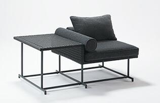 MA-ソファ シングル サイドテーブル付き W1230×D810×H720×SH410mm(サイドテーブルH520mm) 組立品 チェアー 1脚