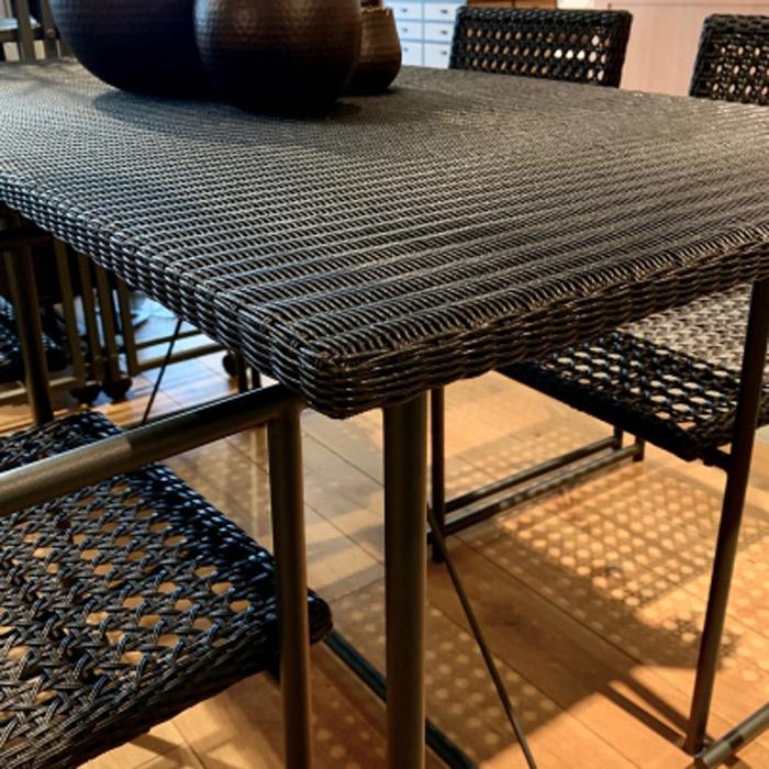 ガーデンテーブル 人工ラタン ラタン 屋外用 ガーデンファニチャー テーブル PATIO PETITE(パティオプティ) MAシリーズ マシリーズ MA-ダイニングテーブル 4人掛けテーブル W1410×D710×H730mm 組立品 高級 おしゃれ ベランダ テラス ガーデン家具 屋外用家具