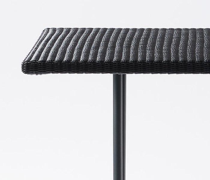 ガーデンテーブル 人工ラタン ラタン 屋外用 ガーデンファニチャー テーブル PATIO PETITE(パティオプティ) MAシリーズ マシリーズ MA-ダイニングテーブル 2人掛けテーブル W710×D710×H730mm 組立品 ベランダ テラス ガーデン家具 屋外用家具