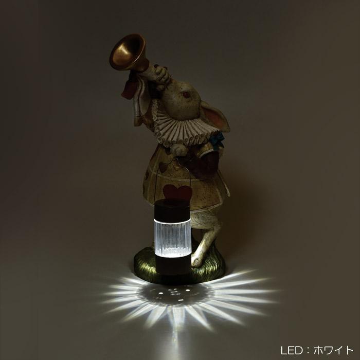 ガーデンオーナメント ソーラー LED ガーデンライト おしゃれ 屋外 照明 自動点灯 ソーラー充電 光センサー付き 電源不要 太陽光 かわいい アリス ソーラーライト 庭 玄関