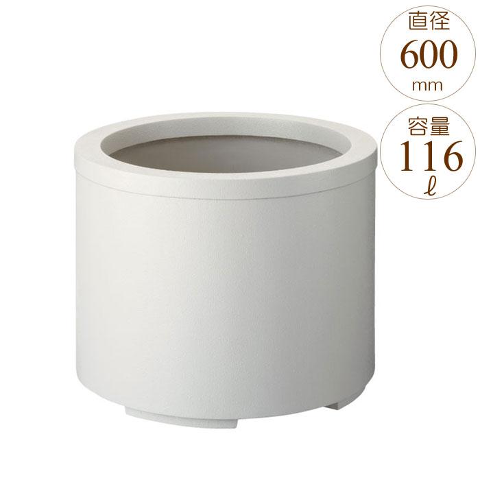 プランター 大型 円形 植木鉢 円柱形 FRPプランター スタンダード M型 シルキーグレー 直径600×H470mm