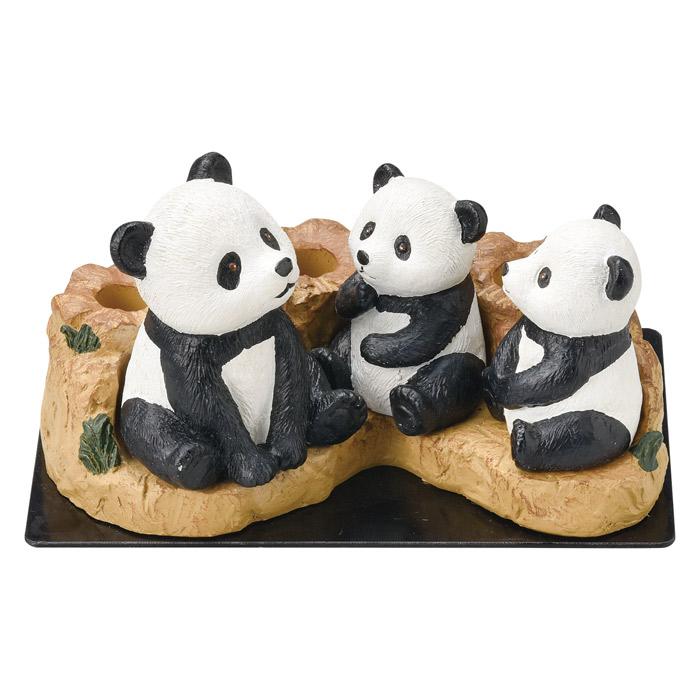傘立て かさ立て 3本傘立て パンダ ぱんだ 可愛い おしゃれ 店舗 ガーデンニング雑貨 お祝い 新築祝い 贈り物