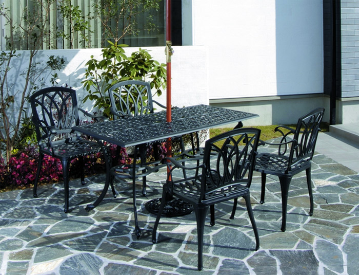 ガーデンチェアー  屋外用 ガーデンファニチャー 鋳物製 アル・カウンチェアー 1脚 組立品