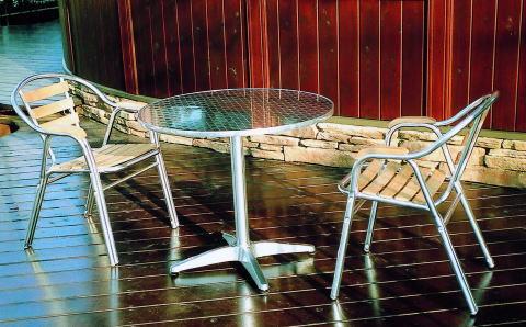 ガーデンファニチャーチークアルミチェアYC052