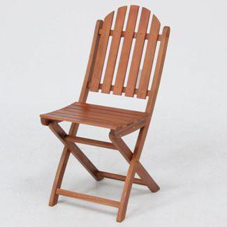 ≪2脚セット≫折りたたみ木製ガーデンチェアー 幅390mm 耐久性に優れ腐りにくいアカシア材使用♪