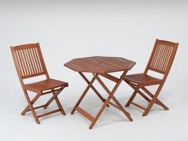 折りたたみ木製テーブル ガーデンテーブル 八角形天板直径900mm 耐久性に優れ腐りにくいアカシア材使用♪/≪2脚セット≫折りたたみ木製ガーデンチェアー 幅425mm 耐久性に優れ腐りにくいアカシア材使用♪