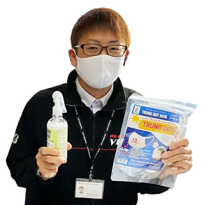 洗える布マスク 中肉中背男性着用例
