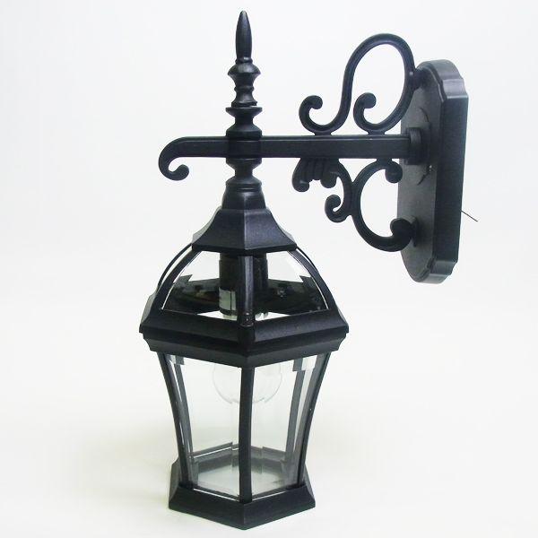 玄関照明 玄関 照明 LED 門柱灯 門灯 外灯 屋外 9789bkld アンティーク風 レトロ ブラケット 照明器具 おしゃれ E26 LED電球