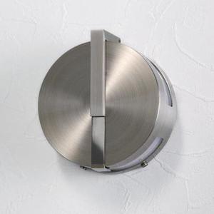 LED仕様 屋外用照明 ゲートランプ 門灯 円型 【ヘアライン】