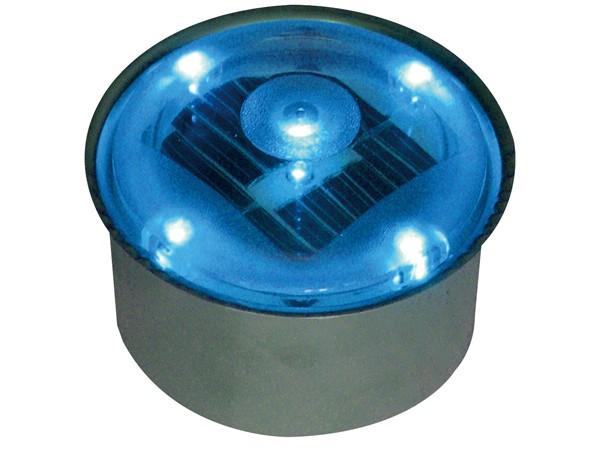 ソーラーブリック 丸型 ブルー
