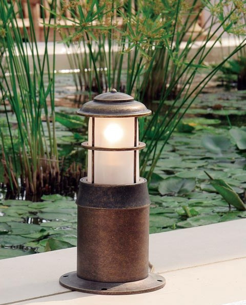 ガーデンライト 庭園灯 屋外 照明 マリンライト BH1012 AN CL+EN AN M クリアガラス 門柱灯 門灯 外灯 玄関 照明器具 おしゃれ E26 白熱電球 40W