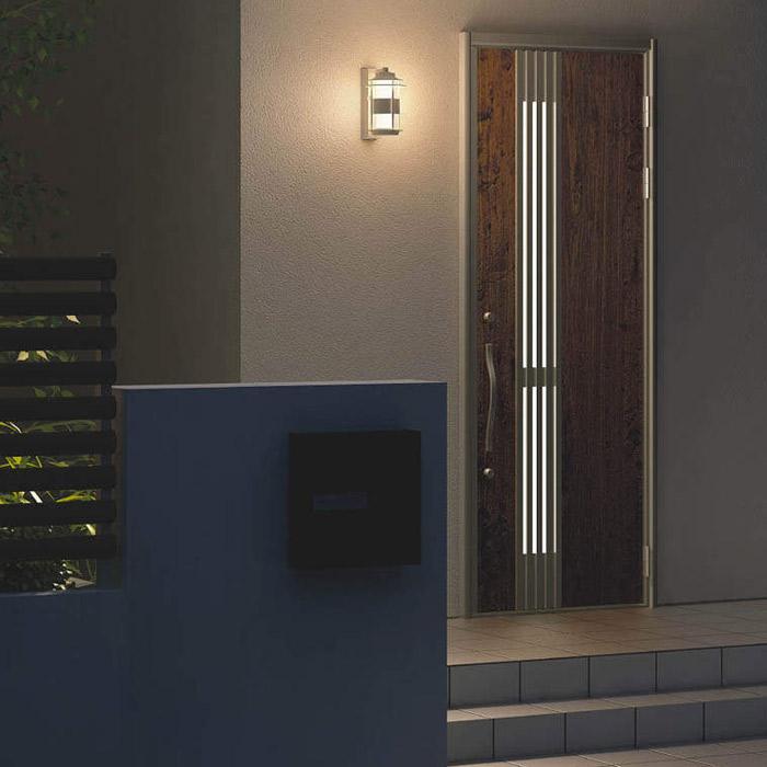 玄関照明 玄関 照明 LED 門柱灯 門灯 外灯 屋外 AU40611L/ AU40609L/AU40398L ブラウン/ウォームグレー/ウォームホワイト 電球色 白熱灯40W相当