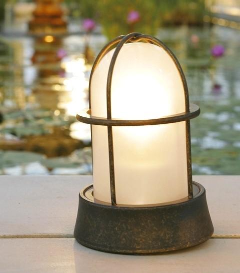 ガーデンライト 庭園灯 屋外 LED 照明 マリンライト BH1000 くもりガラス 門柱灯 門灯 外灯 玄関 スタンドライト 照明器具 おしゃれ E26 電球型LED 5W