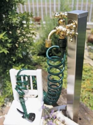 ガーデニング ステンレス立水栓