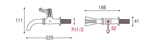 蛇口 イタリアドラゴン水栓詳細図面