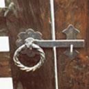 ウッド門扉 R-1型0812柱仕様■両開きセット 取っ手部(裏側)