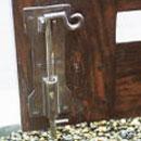 ウッド門扉 R-1型0812柱仕様■両開きセット 落とし棒