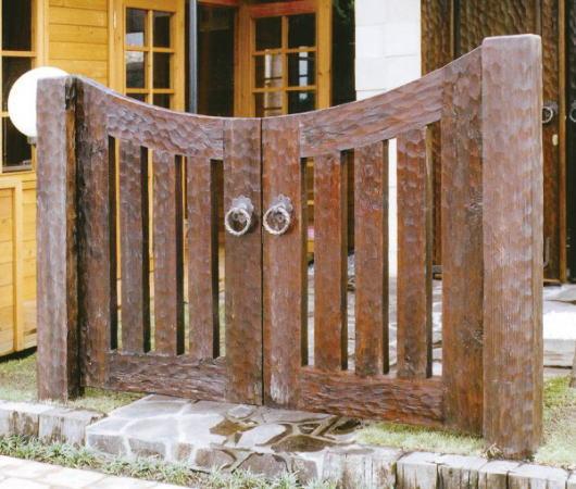 ウッド門扉 L-1型0812柱仕様 両開きセット