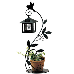 ソーラーライト LED ガーデンライト 光センサー付ソーラーライト 屋外照明 小鳥と葉っぱのオーナメント