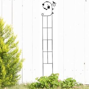 トレリス ガーデニング フェンス ガーデニング雑貨 小鳥と葉っぱのオーナメント バラ