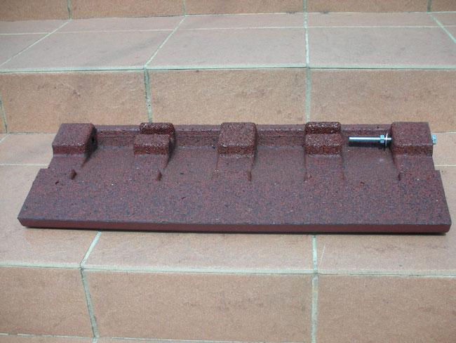 100mm段差用 段差スロープ セフティ・スロープ 【セット品・2900×250×95mm】 裏面