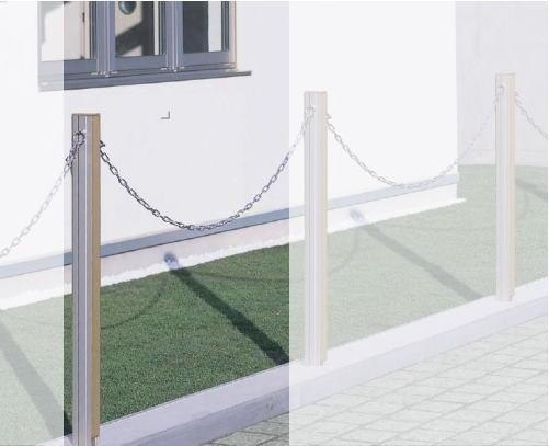 【レグザチェーンポール 1型】 (境界フェンス 1スパン セット )駐車場用品