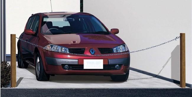 駐車場ポールシンプルモダンチェーンポール イメージ1